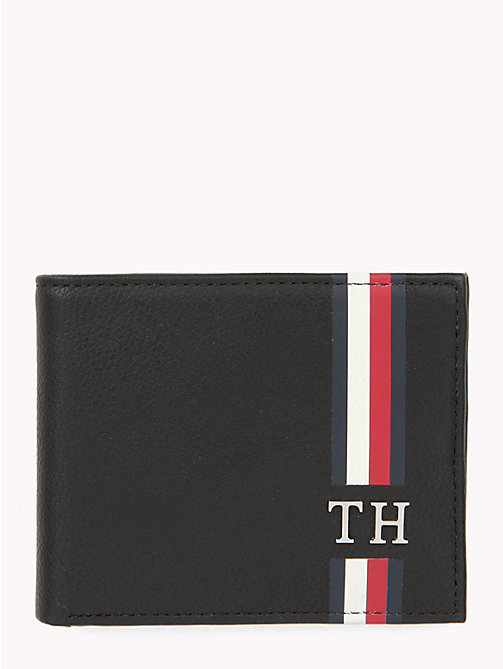 TOMMY HILFIGER Signature Monogram Small Card Wallet - BLACK - TOMMY HILFIGER Wallets & Keyrings - main image