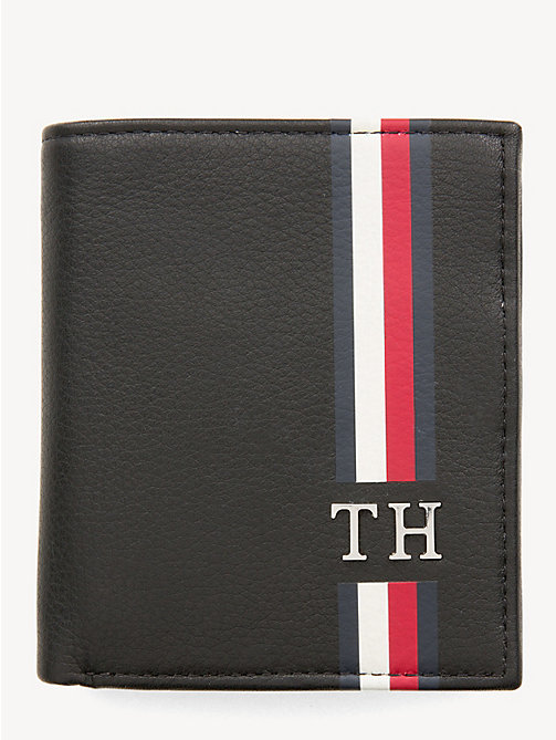 TOMMY HILFIGER Signature Monogram Tri-Fold Wallet - BLACK - TOMMY HILFIGER Wallets & Keyrings - main image