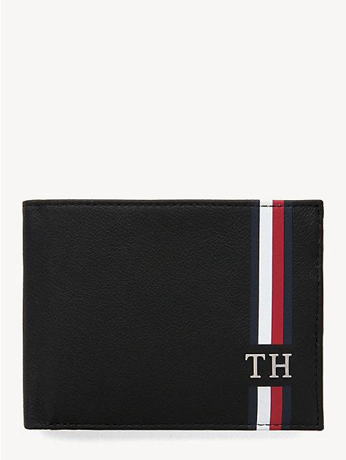 75aa1c7cc104 NOUVEAU TOMMY HILFIGER Portefeuille emblématique à deux volets et  monogramme - BLACK - TOMMY HILFIGER Portefeuilles ...