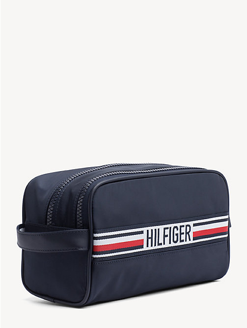TOMMY HILFIGER Signature Tape Double Washbag - TOMMY NAVY - TOMMY HILFIGER Duffle Bags - detail image 1