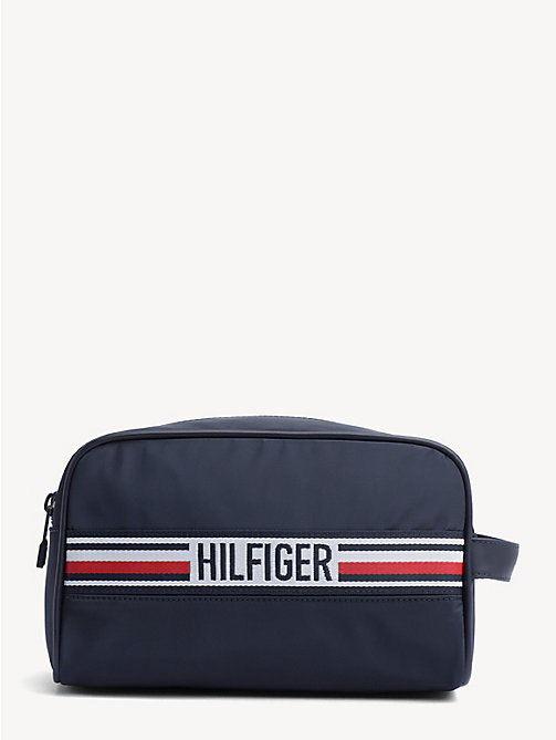 TOMMY HILFIGER Signature Tape Double Washbag - TOMMY NAVY - TOMMY HILFIGER Duffle Bags - main image