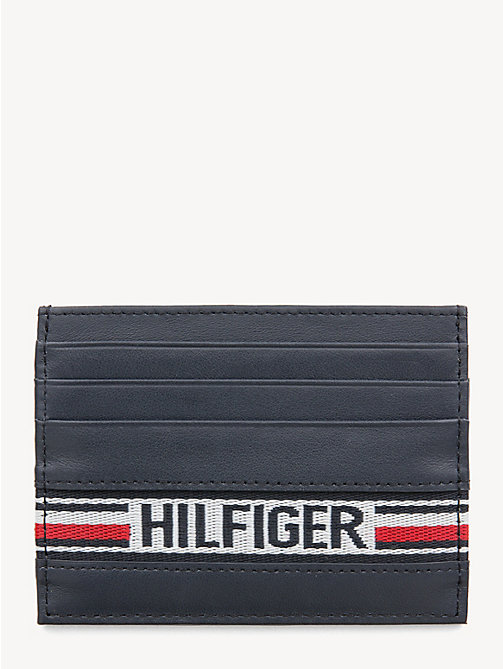 TOMMY HILFIGER Signature Tape Card Holder - TOMMY NAVY - TOMMY HILFIGER Wallets & Keyrings - main image