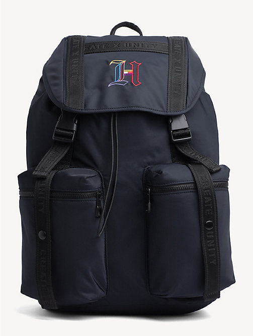 41037be9e815 TOMMY HILFIGERLewis Hamilton Monogram Flap Backpack