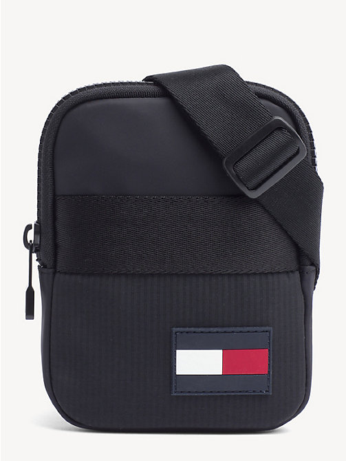TOMMY HILFIGER Logo Patch Crossover Bag - BLACK - TOMMY HILFIGER Crossbody Bags - main image
