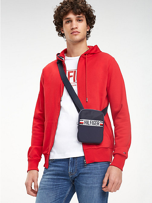 TOMMY HILFIGER Logo Patch Crossover Bag - TOMMY NAVY - TOMMY HILFIGER Crossbody Bags - detail image 1