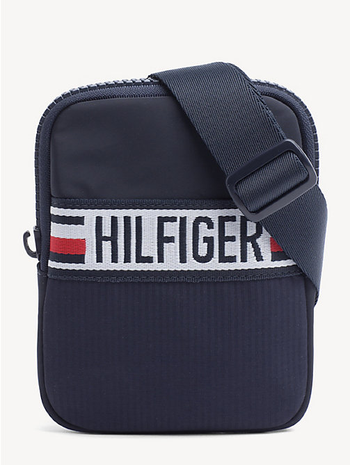 TOMMY HILFIGER Logo Patch Crossover Bag - TOMMY NAVY - TOMMY HILFIGER Crossbody Bags - main image