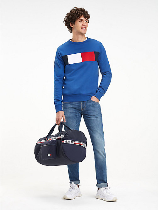 TOMMY HILFIGER Convertible weekendtas met signature-tape - TOMMY NAVY - TOMMY HILFIGER NIEUW - detail image 1