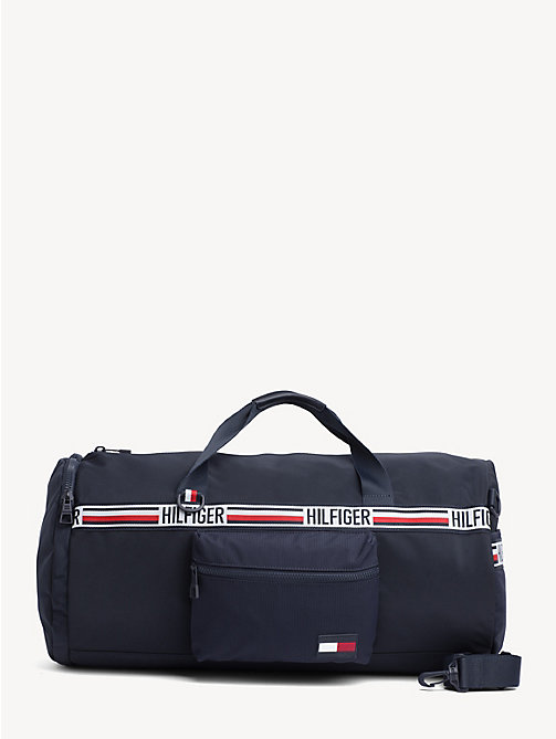 TOMMY HILFIGER Convertible weekendtas met signature-tape - TOMMY NAVY - TOMMY HILFIGER NIEUW - main image