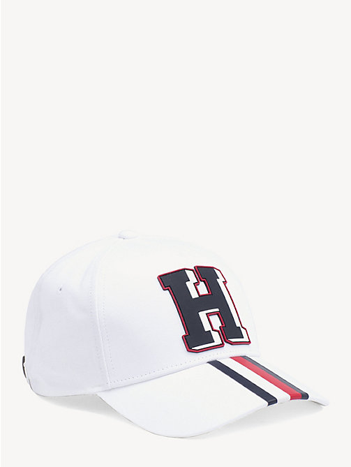 TOMMY HILFIGER Monogram Patch Baseball Cap - BRIGHT WHITE - TOMMY HILFIGER Caps & Beanies - main image