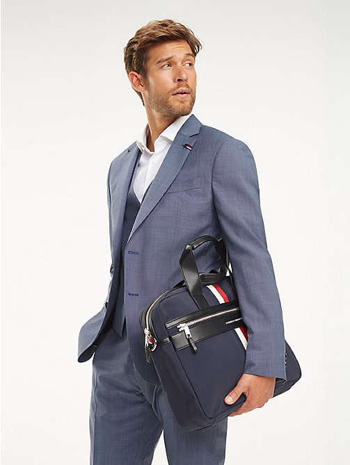 TOMMY HILFIGER Elevated laptoptas met signature-tape - TOMMY NAVY - TOMMY HILFIGER NIEUW - detail image 1