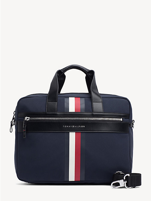 TOMMY HILFIGER Elevated laptoptas met signature-tape - TOMMY NAVY - TOMMY HILFIGER NIEUW - main image