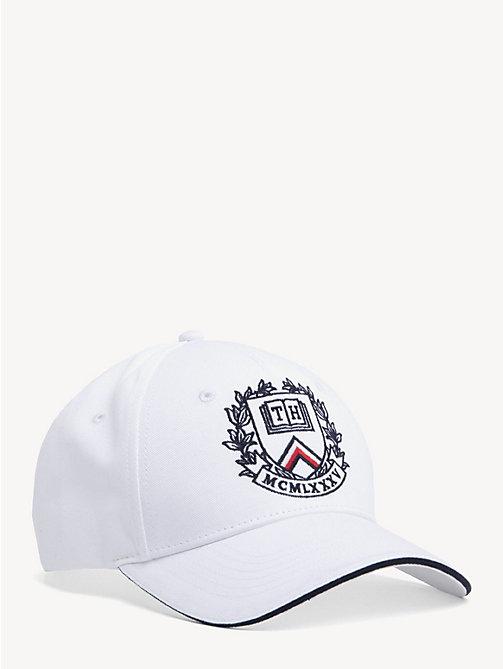 72212e8a white collegiate crest baseball cap for men tommy hilfiger