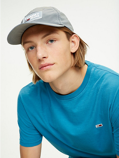 4e0920d1 grey reflective baseball cap for men tommy jeans