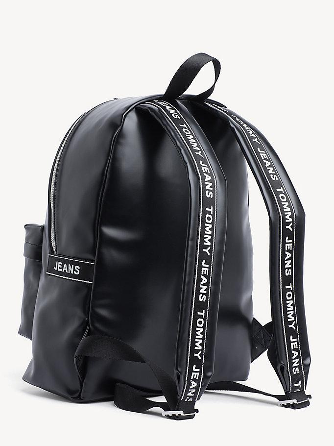 e89b4b15 TJ Logo Tape Backpack | BLACK | Tommy Hilfiger