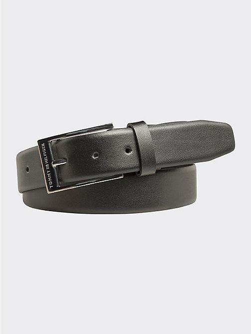e3047e829e7c7 ceinture ajustable à boucle bicolore en cuir black pour hommes tommy  hilfiger