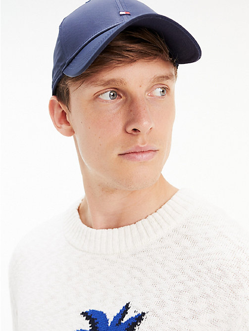 c7e5e020 blue flag embroidery recycled baseball cap for men tommy hilfiger