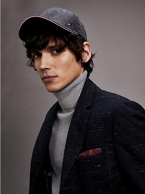 c57ad4d09a7921 grey bawełniana czapka z daszkiem dla mężczyźni - tommy hilfiger
