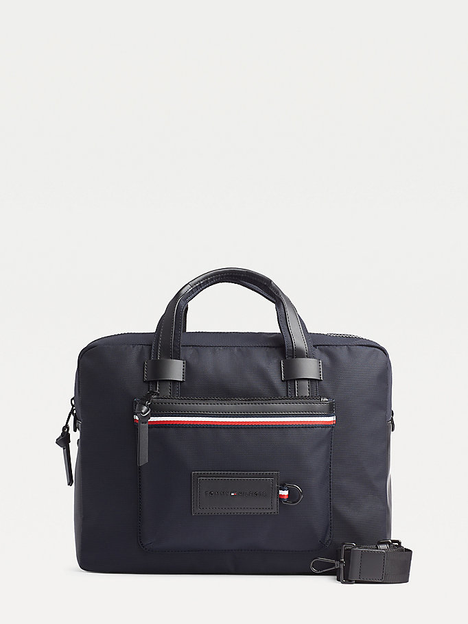 blue convertible modern computer bag for men tommy hilfiger