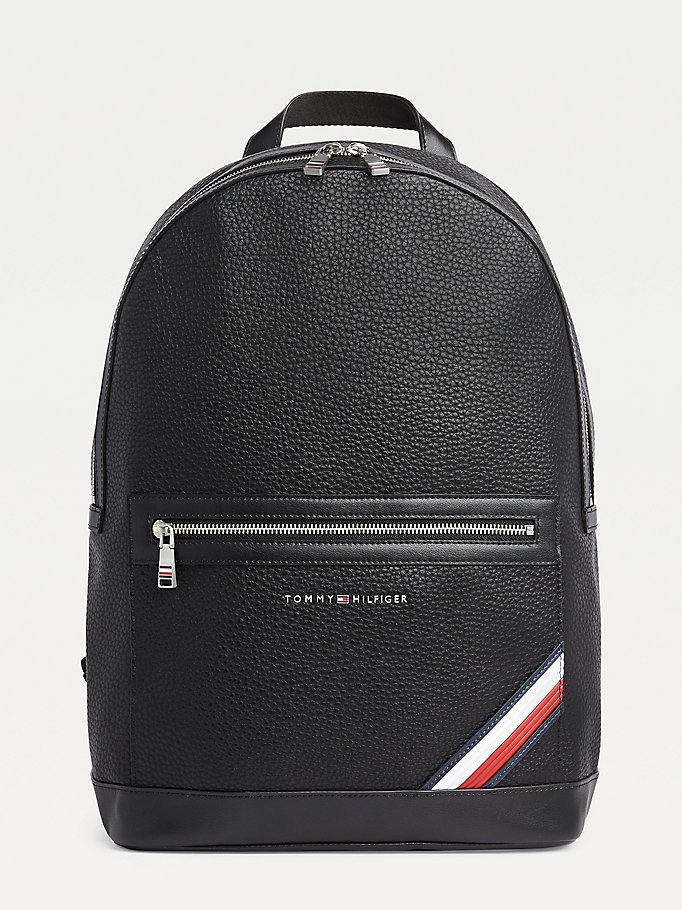 black downtown modern backpack for men tommy hilfiger
