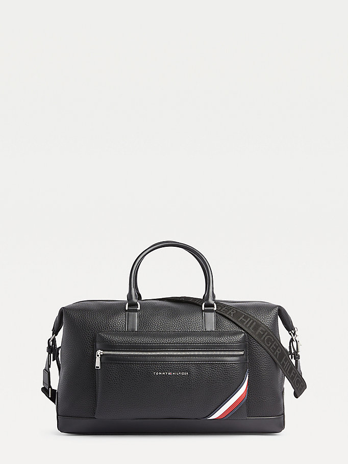 black downtown modern duffle bag for men tommy hilfiger
