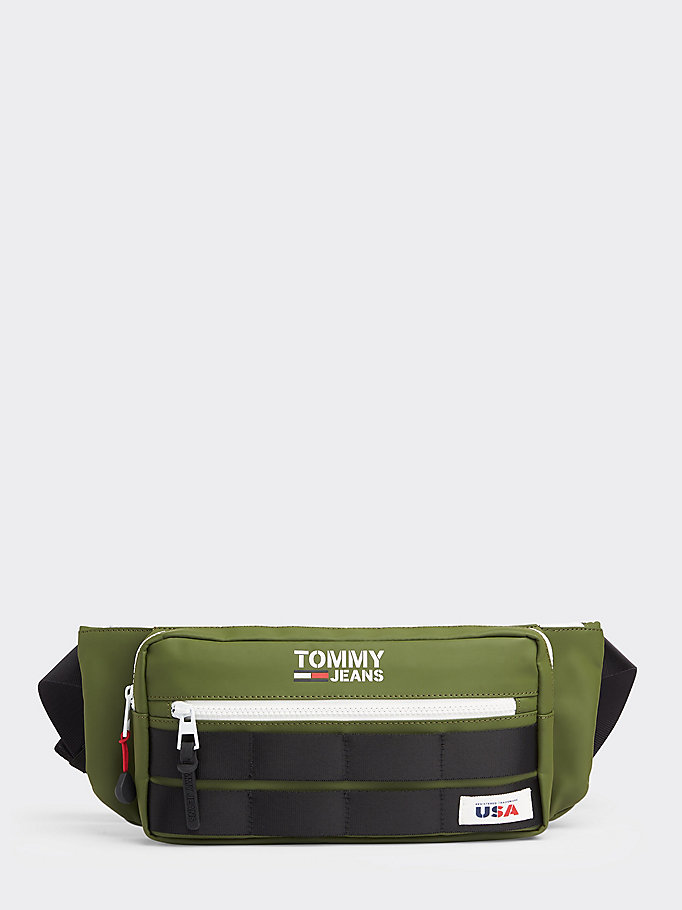 green utility crossover bag for men tommy jeans