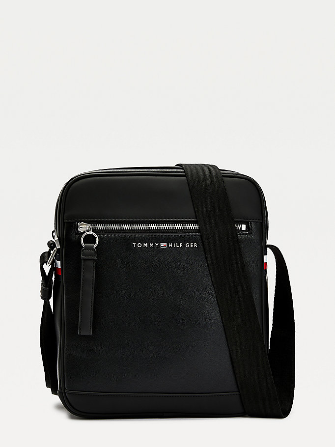 black metro reporter bag for men tommy hilfiger