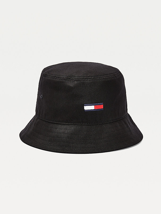 black flag detail bucket hat for men tommy jeans