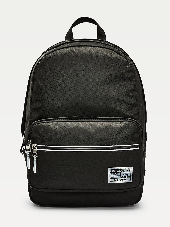 black surplus logo laptop sleeve backpack for men tommy jeans