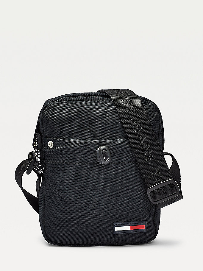 black campus logo small reporter bag for men tommy jeans
