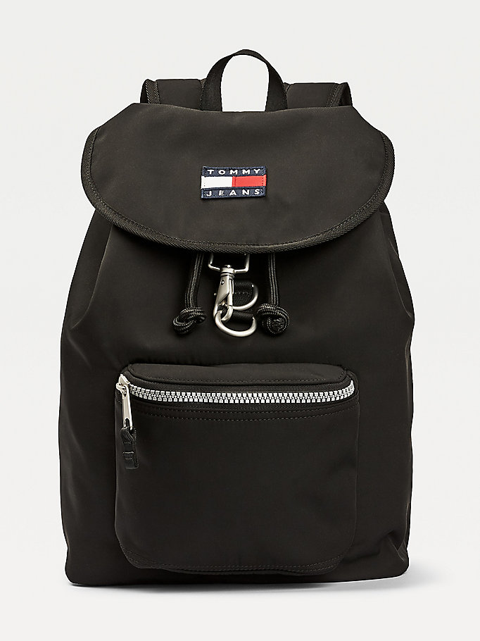 black heritage backpack for men tommy jeans