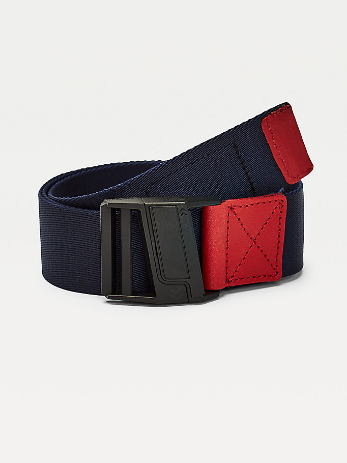 multi surplus logo webbing belt for men tommy jeans