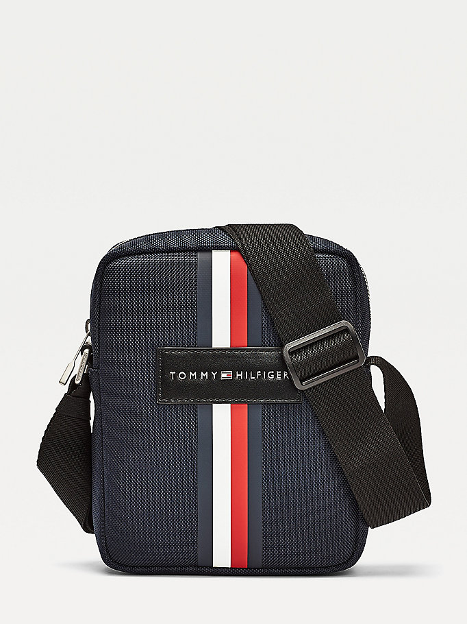 blue uptown small signature reporter bag for men tommy hilfiger
