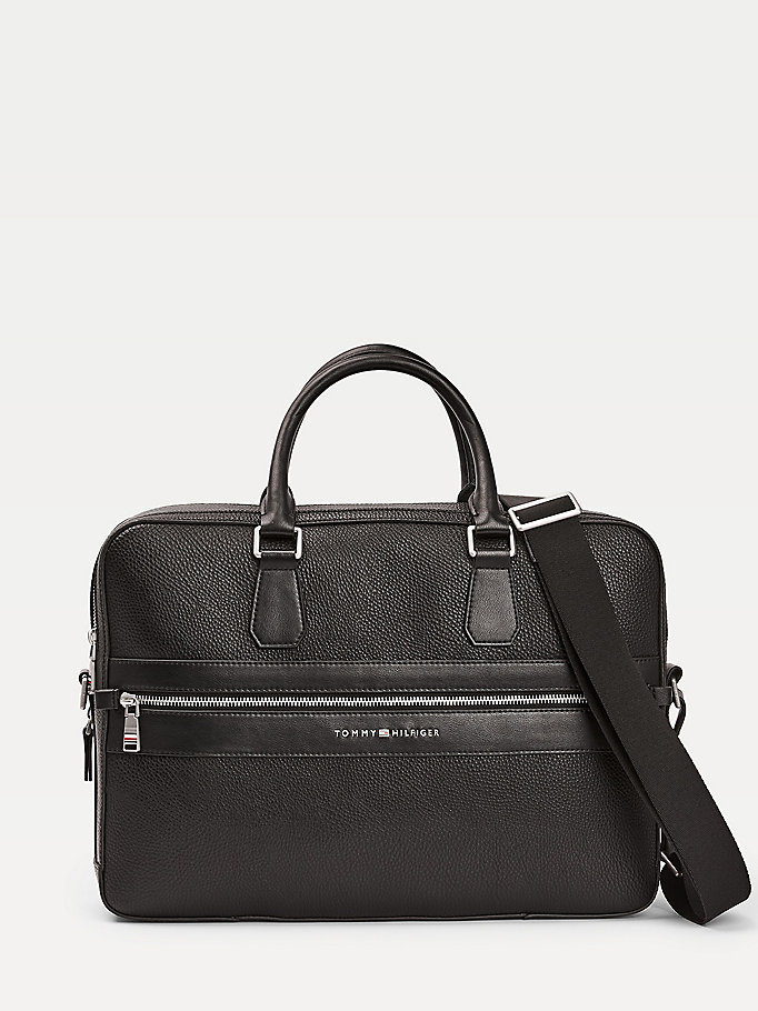 black th modern work bag for men tommy hilfiger
