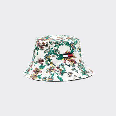 Thingimijigs Womens Blue//Floral Reversible Bucket Hat