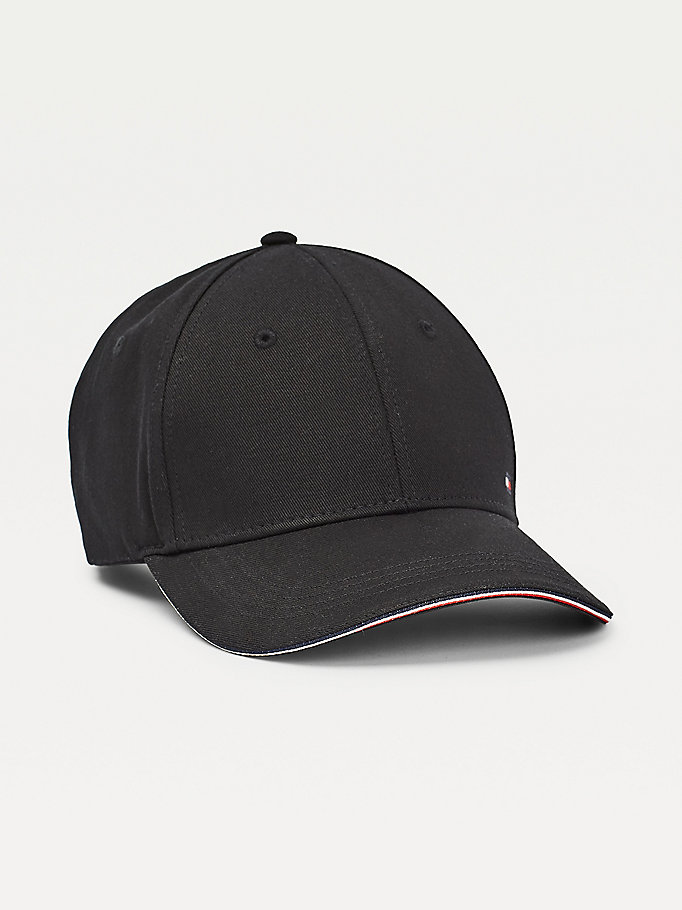 schwarz elevated signature baseball-cap für herren - tommy hilfiger