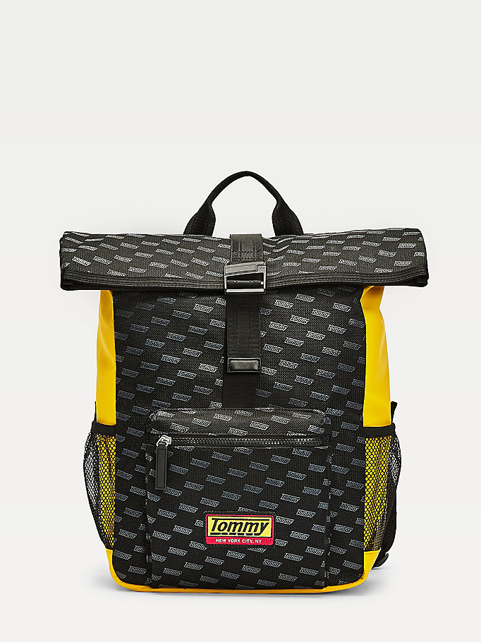 black tech net mesh backpack for men tommy jeans