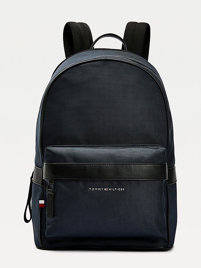 blue contrast trim recycled polyester backpack for men tommy hilfiger