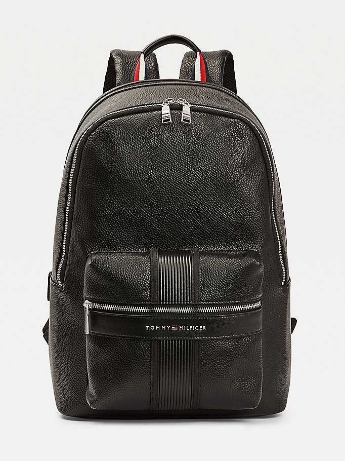 black downtown backpack for men tommy hilfiger