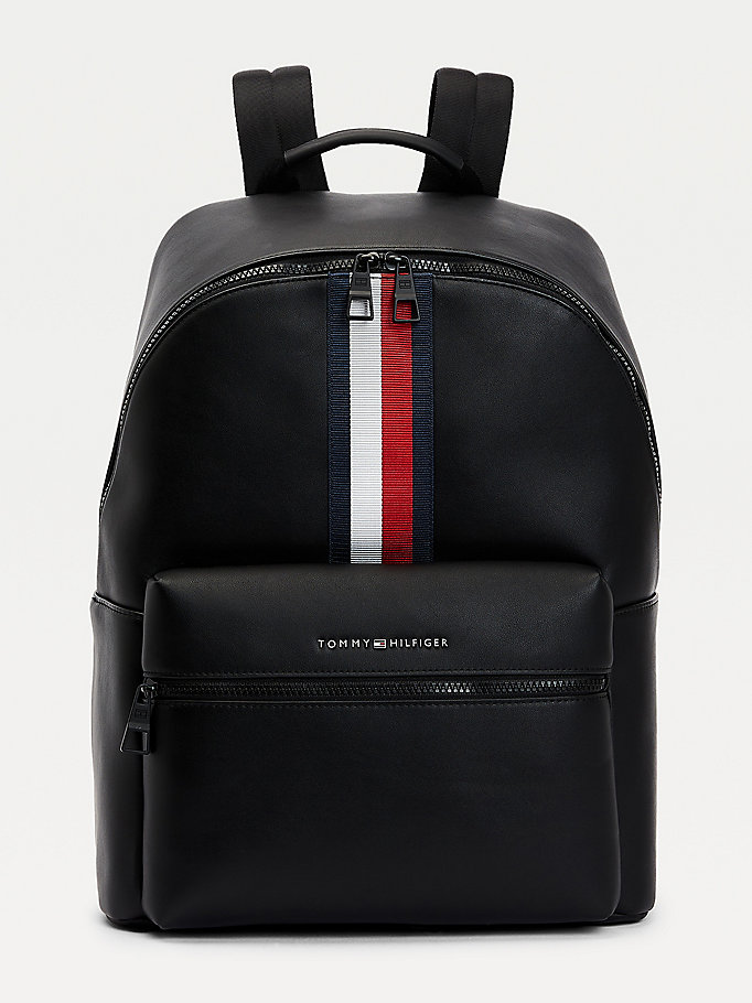black metro signature tape backpack for men tommy hilfiger