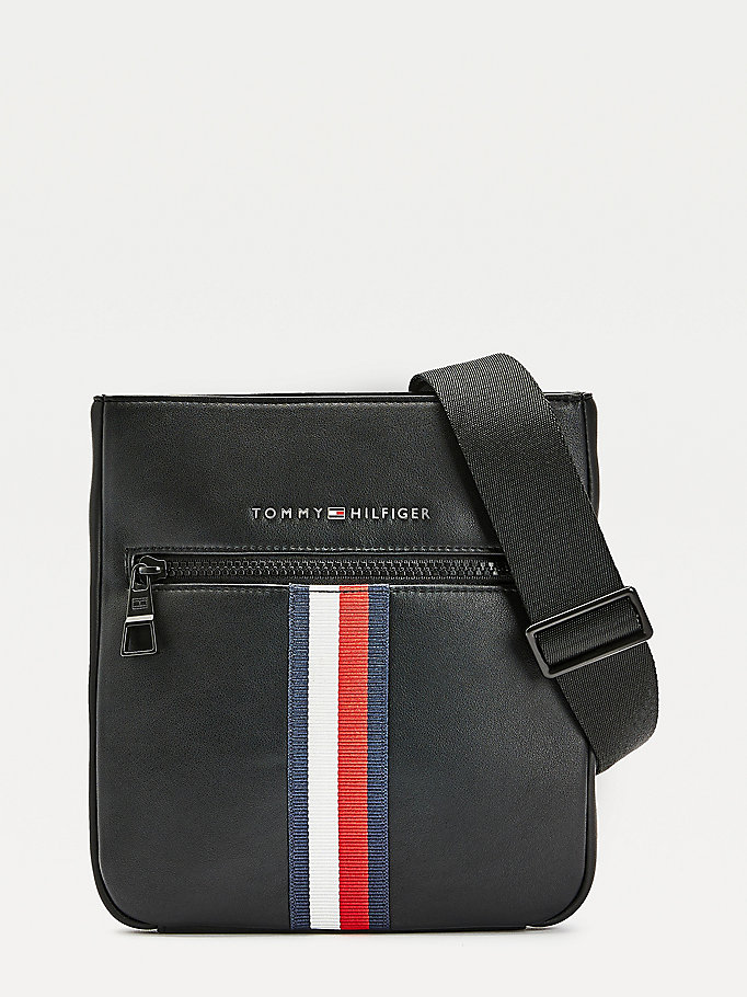 black metro small crossover bag for men tommy hilfiger