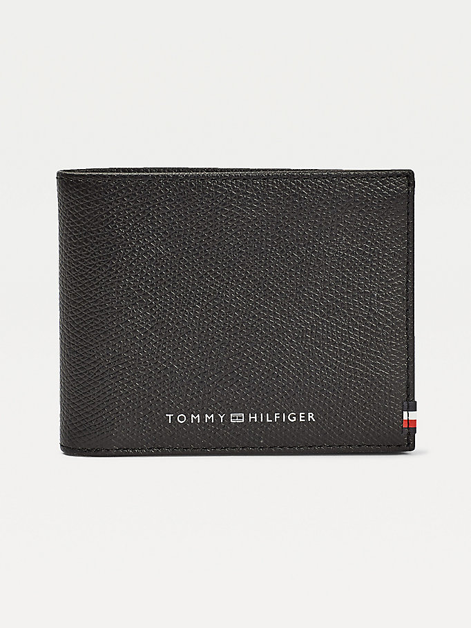 porta carte di credito th business piccolo nero da uomo tommy hilfiger