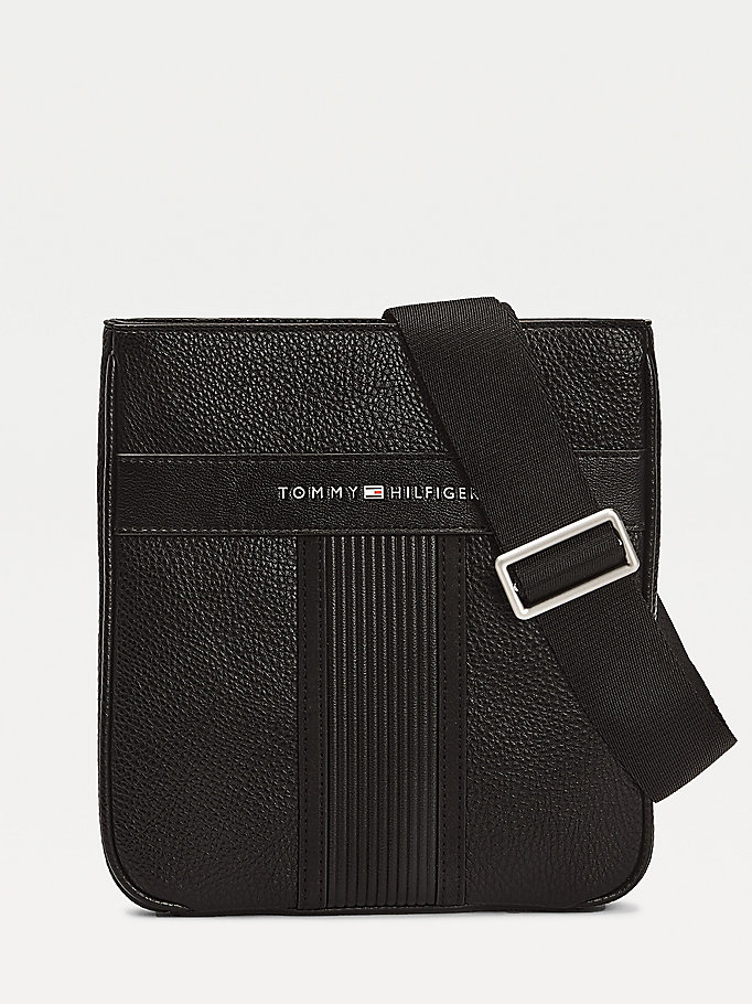 black downtown small crossover bag for men tommy hilfiger