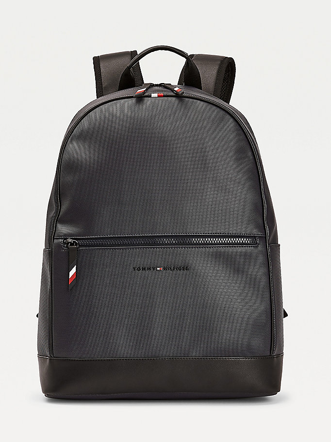 blue essential signature details backpack for men tommy hilfiger