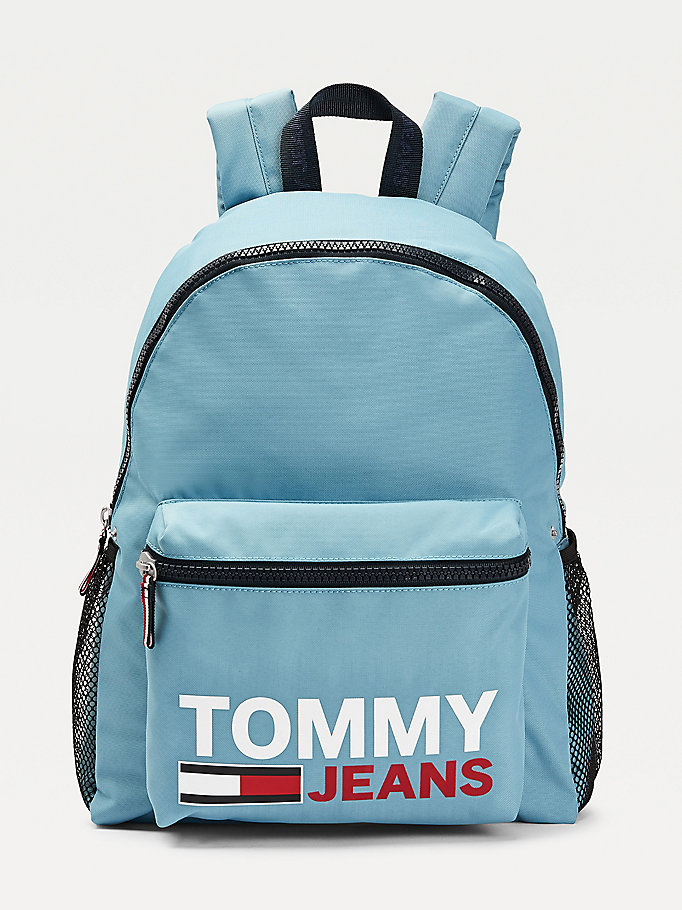 blue campus graphic backpack for men tommy jeans