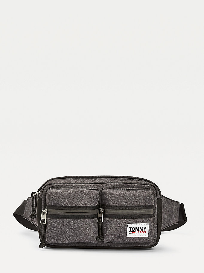 black tommy jeans tech bumbag for men tommy jeans