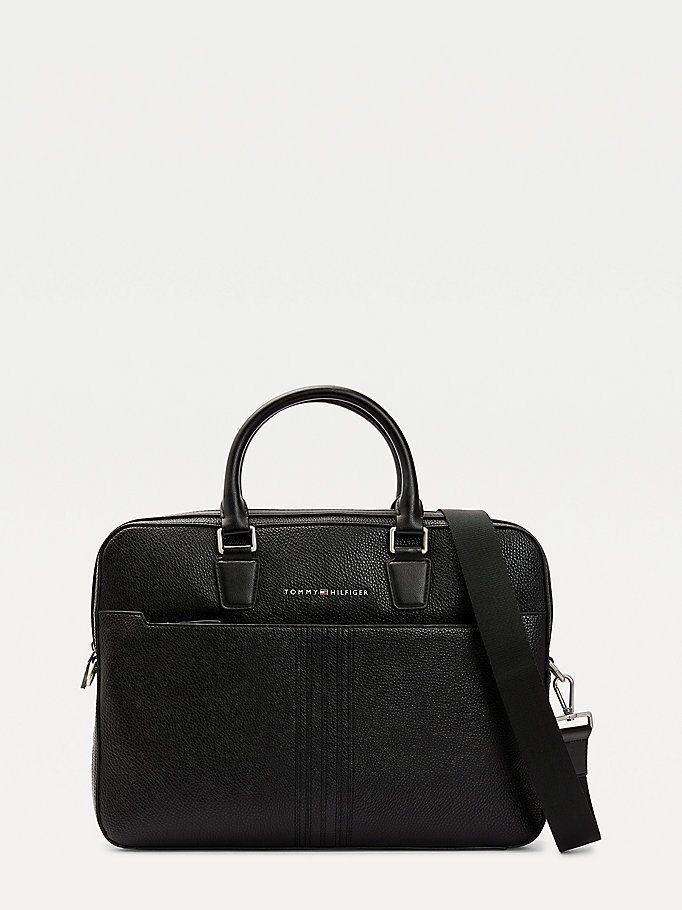 black downtown slim computer bag for men tommy hilfiger