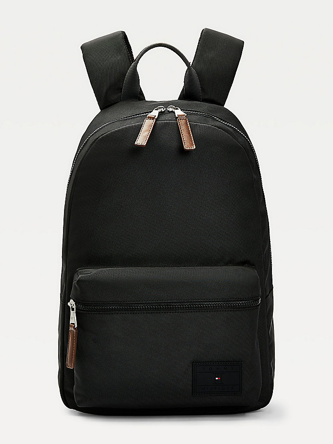 black logo patch backpack for men tommy hilfiger