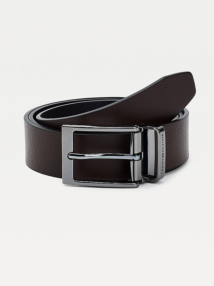 brown layton detachable buckle belt for men tommy hilfiger