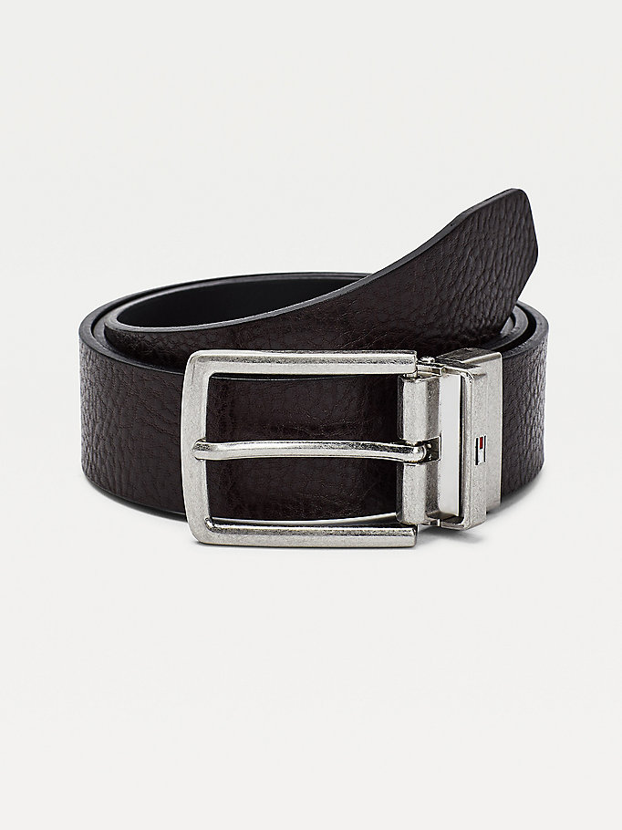 black denton reversible leather belt for men tommy hilfiger