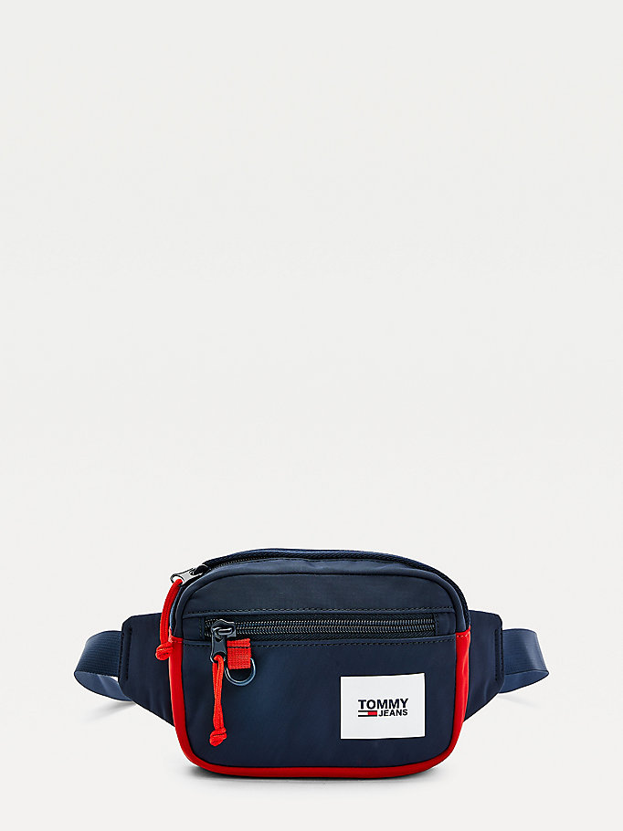 marsupio urban color pop blu da uomo tommy jeans